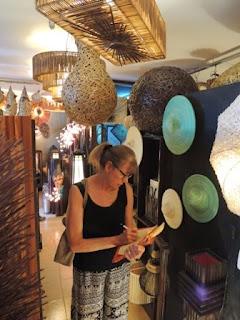 natural material lamps