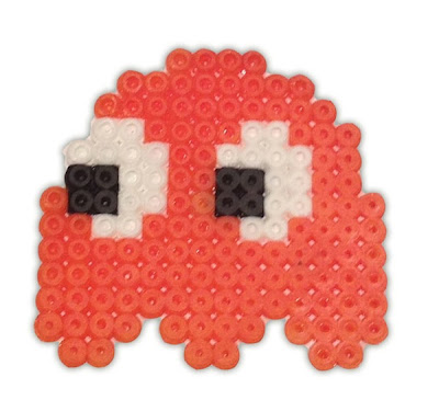 Hama Beads Pac Man Ghost pattern