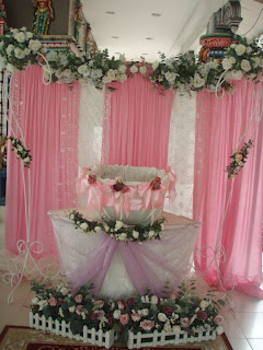 Siti 39 s touch creation baby naming ceremony deco for Baby name ceremony decoration