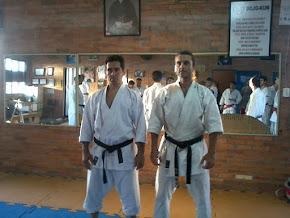 Sensei Justo Gómez e Sensei Eraldo Rocha