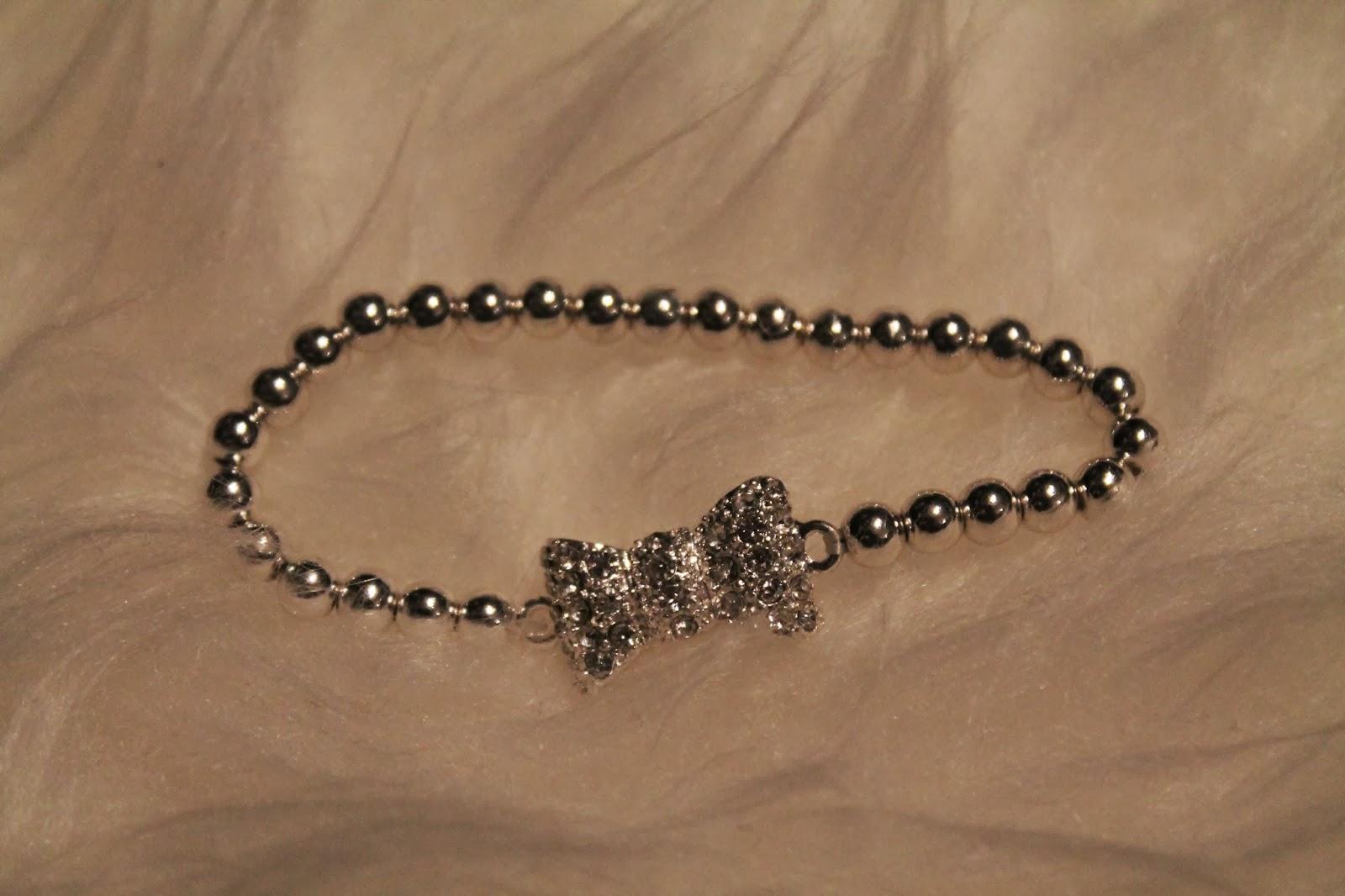 Silver Bow Bracelet Maschen Armband Silber
