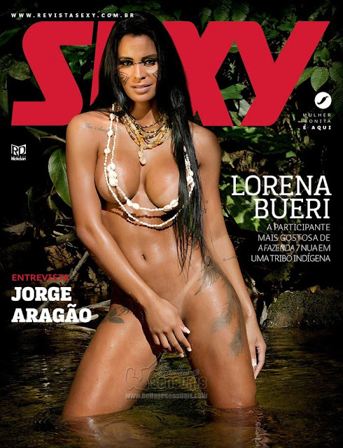 fotos de Lorena Bueri nua e pelada na Revista Sexy