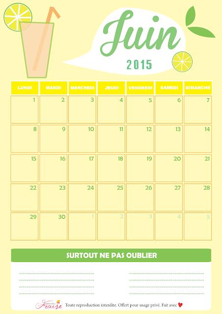 calendrier diy juin 2015