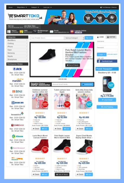 Template toko online rupiah