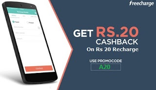 Flat Rs.20 Cashback on Recharge & Bill Payment of Rs.20 For All Users (100% Cashback Coupon)