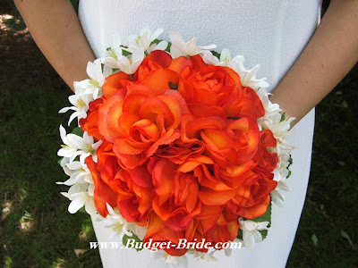 White And Red Wedding Flower Bouquets