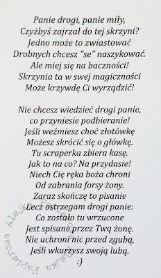 Hymn scraperki do męża-wersja książkowa, wydanie pierwsze ;)
