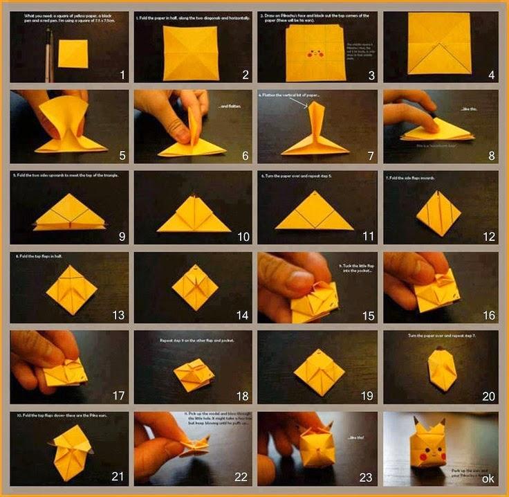 pikachu origami instructions