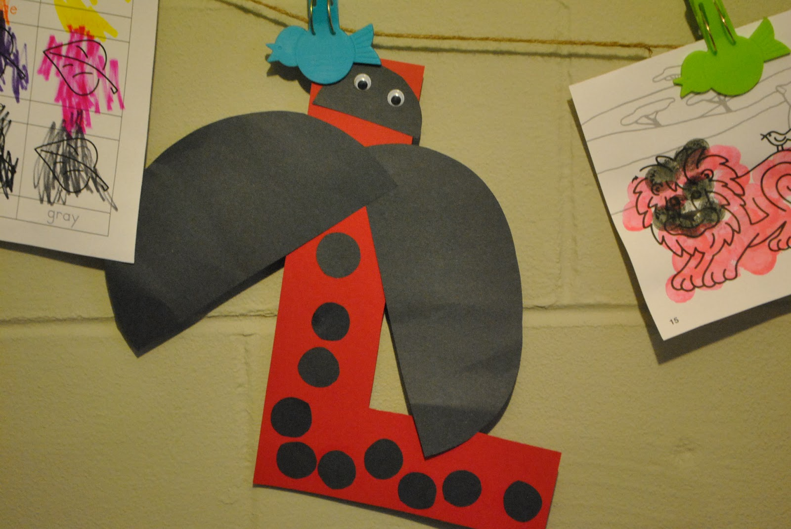 Ladybug letter L: This was a lot of fun for her and a great counting ...