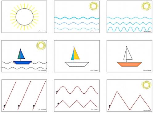 ćwiczenia grafomotoryczne dla dzieci do wydrukowania
