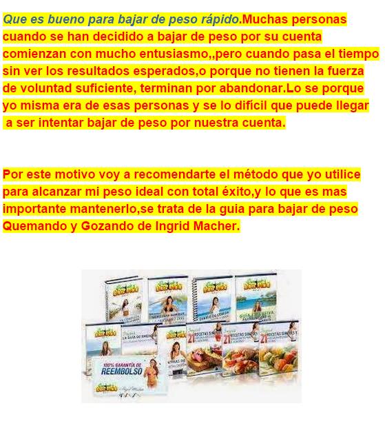 Buenos programa para bajar de peso en 7 dias cncer propaga