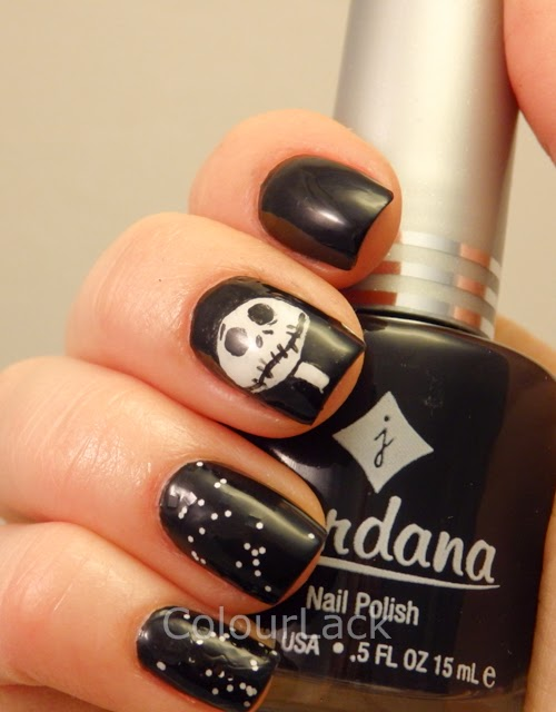 Colour Lack: Halloween Nails - Jack Skellington from The Nightmare ...