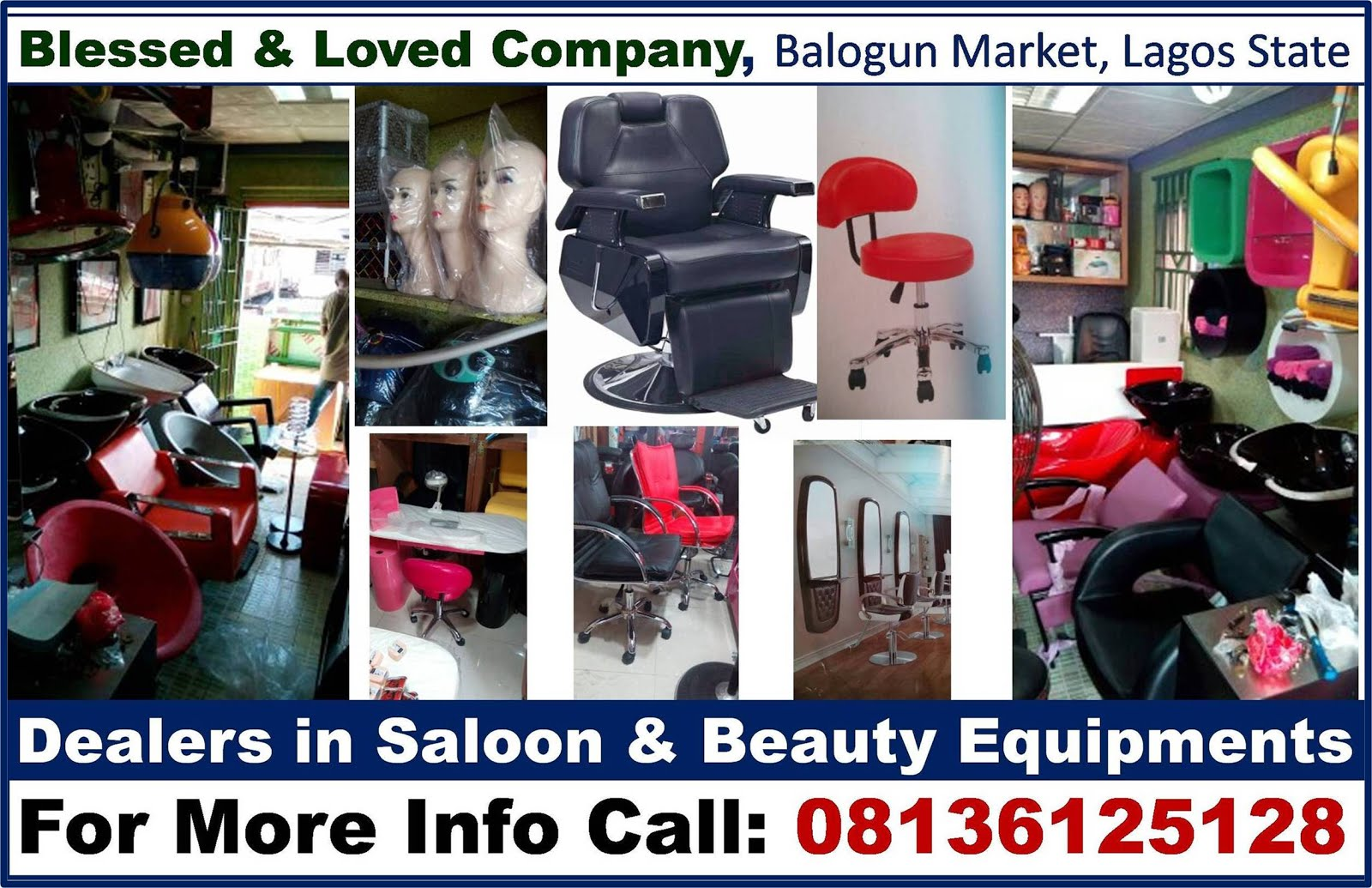 ADVERT: Dealers in Beauty & Saloon Equipments