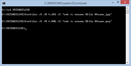 Đổi tên toàn bộ đuôi file trong cùng một Folder