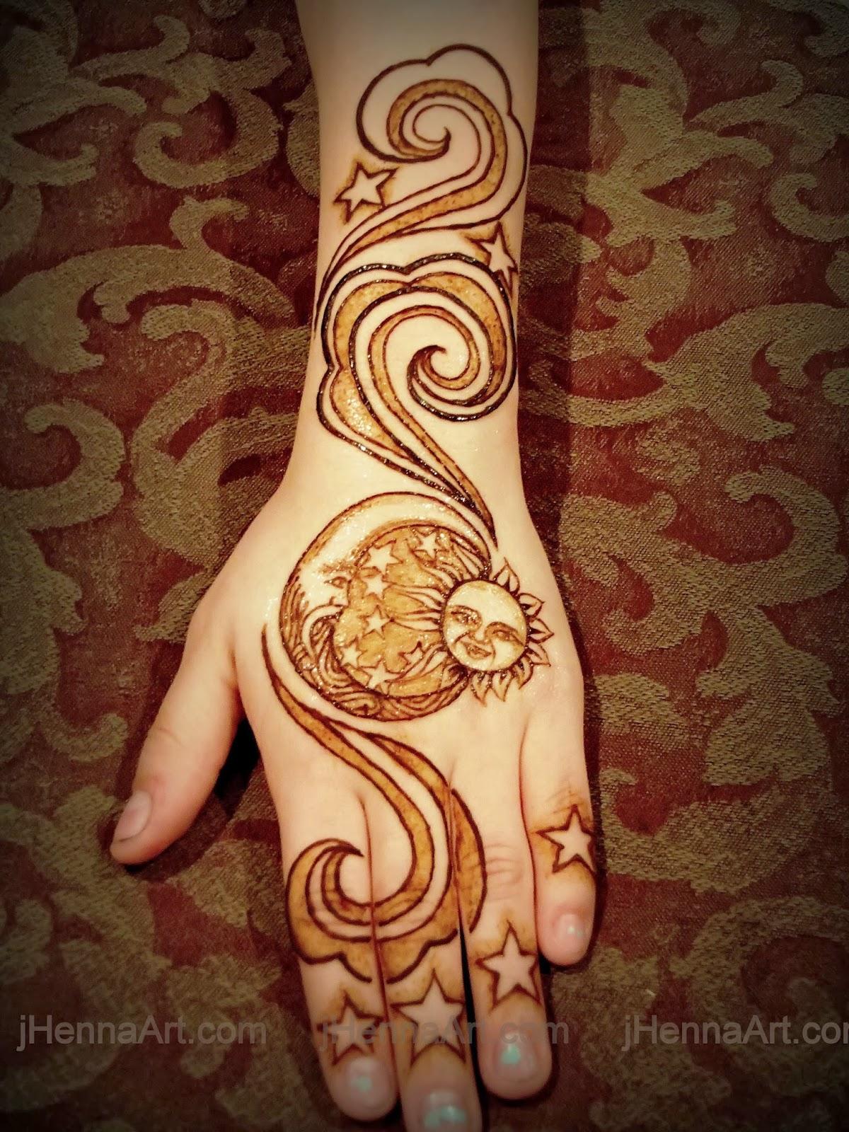20140225 jen j Henna henna grand rapids lansing kalamazoo mi moon sun    Sun And Moon Henna Designs