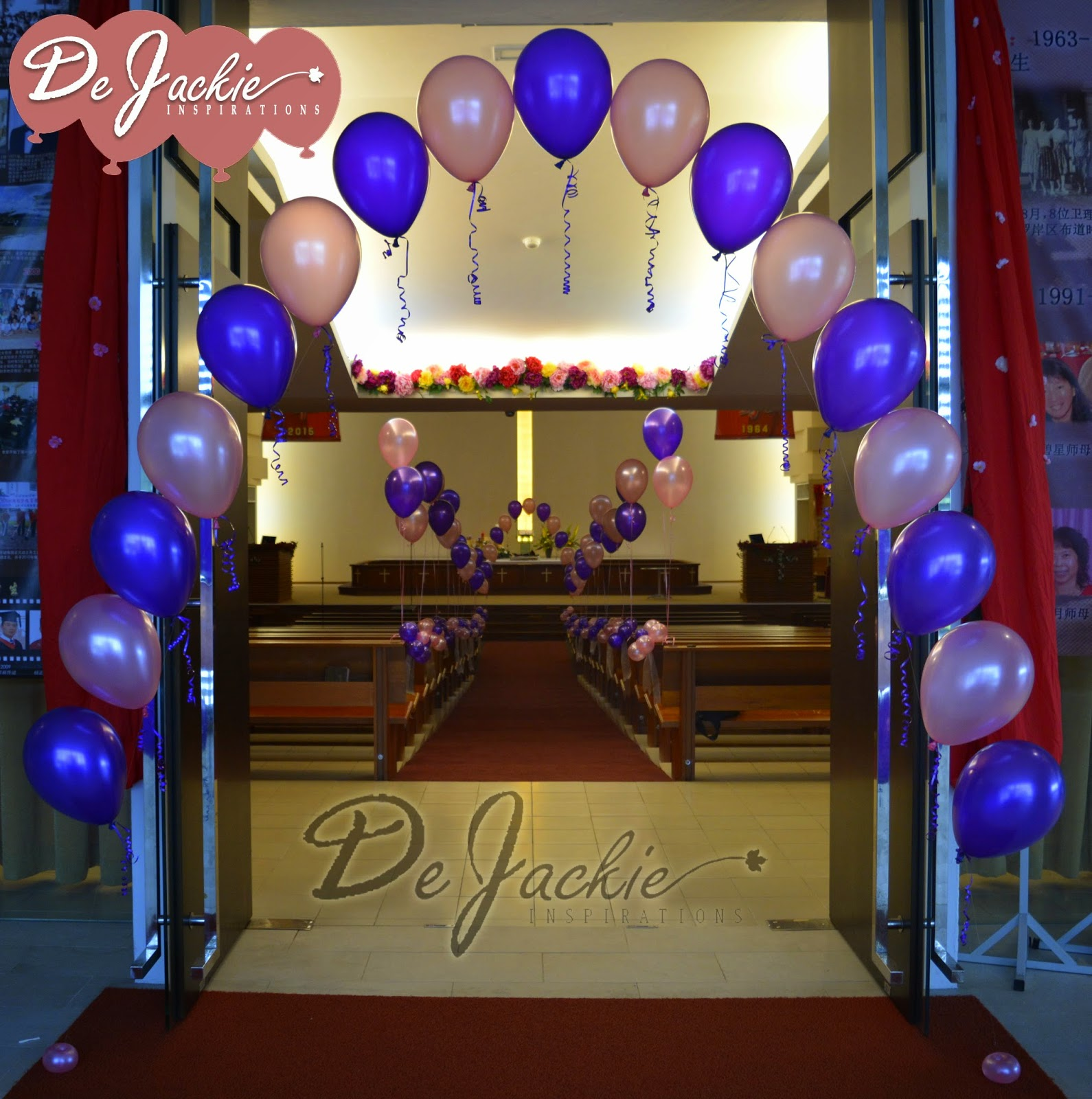Church decorations for january - Church Balloon Decoration Pearl Arch Helium Bouquet