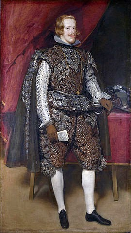 Felipe IV de castaño  y plata del genial Diego Velásquez  de España