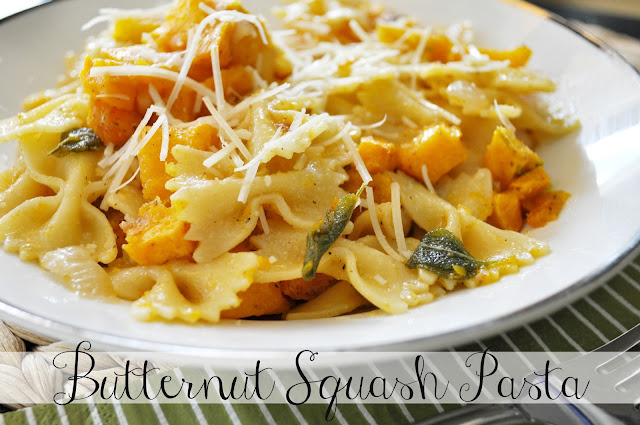 Suburbs Mama: Butternut Squash Pasta with Sage and Browned Butter