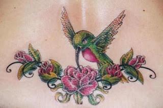 Humming Bird Tattoo design for Girls
