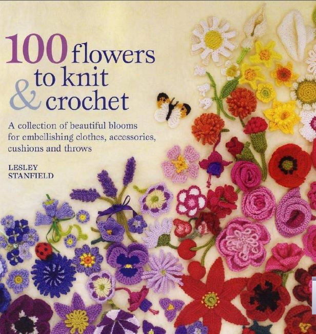 100 Flores para tejer a Dos Agujas y Crochet