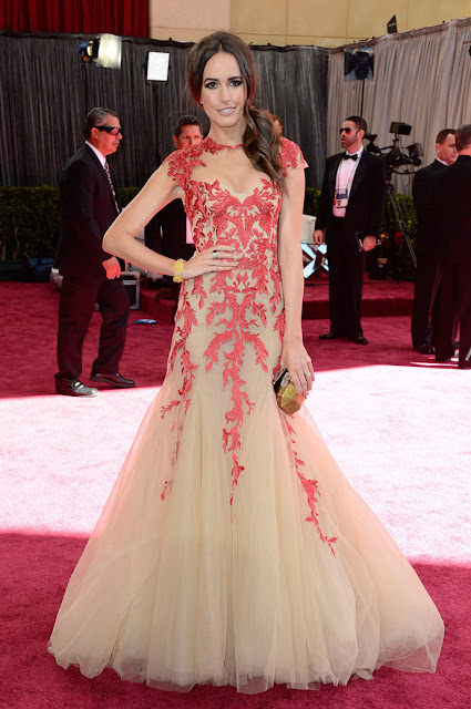 Louise Roe de Monique Lhuillier - Oscar 2013