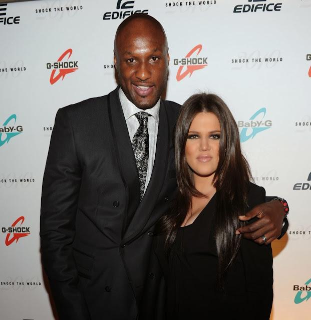 Khloe Kardashian with Lamar Odom