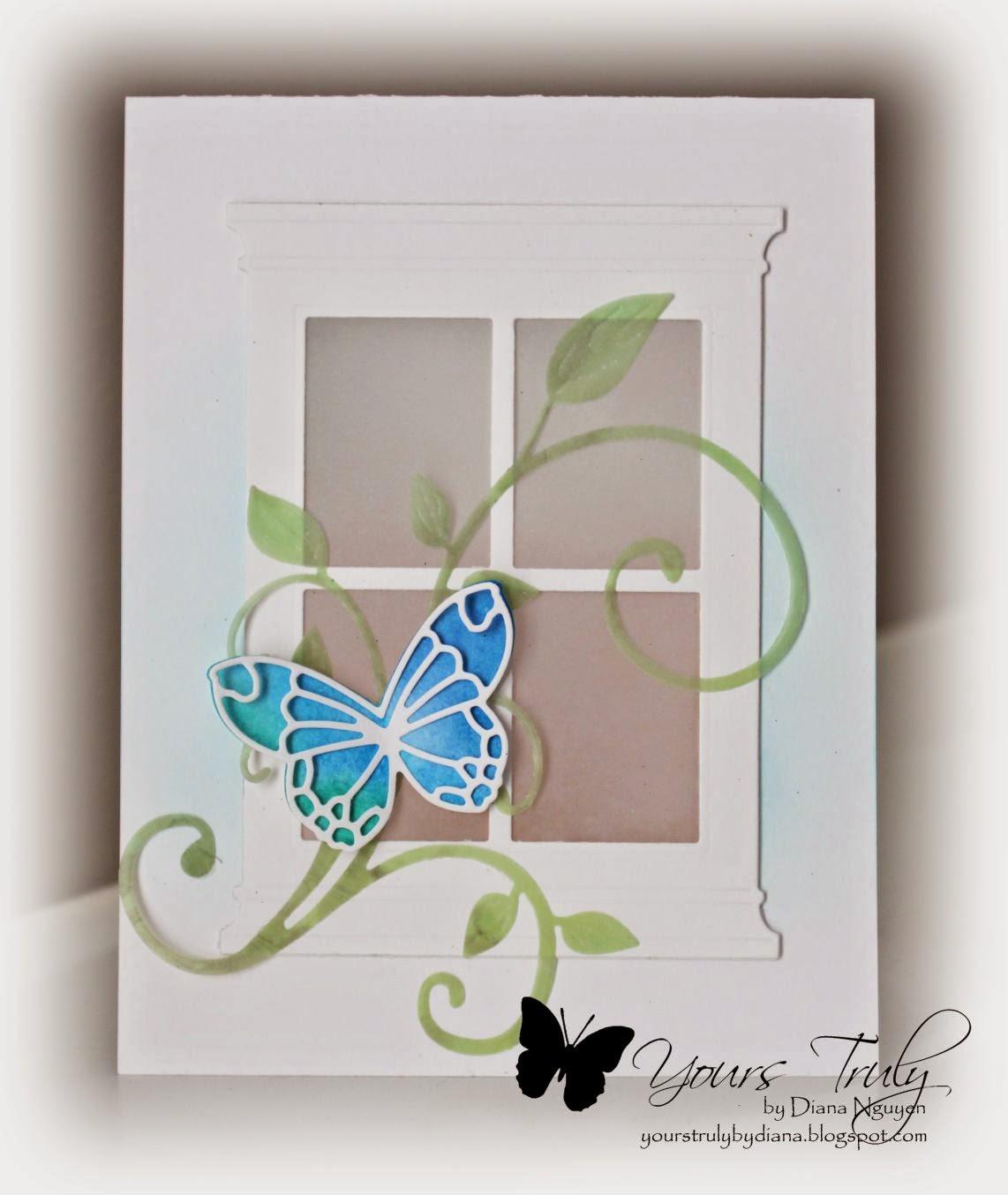 Diana Nguyen, Poppystamps, Butterfly, card