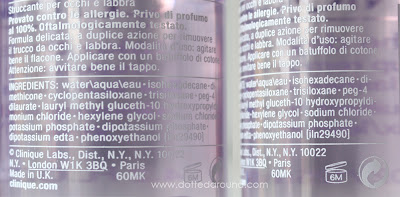 Clinique take the day off ingredient list