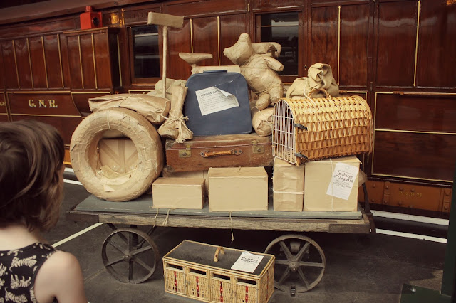 vintage railway luggage