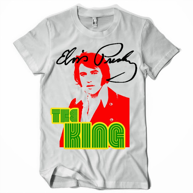 T shirt design elvis presley