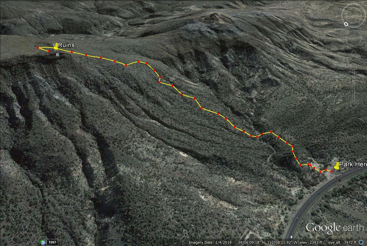Girl on a Hike The Black Mesa Indian Ruins Arizona