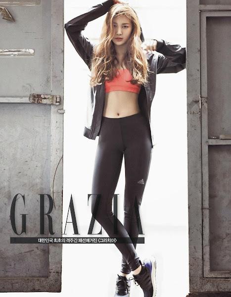 Yura of Girl's Day for adidas running in Grazia