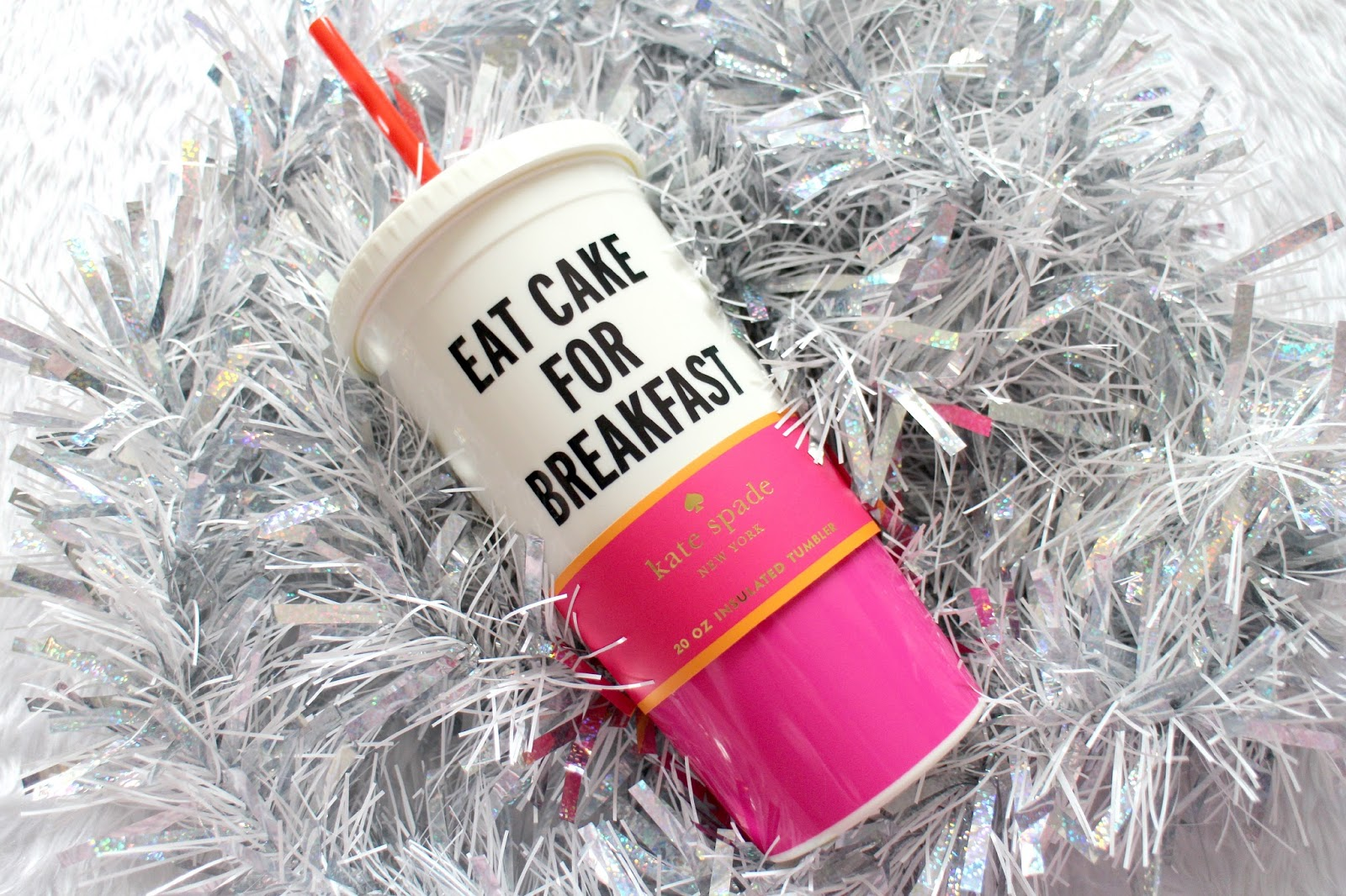 Kate Spade Eat Cake For Breakfast Tumbler