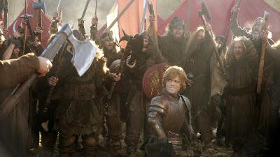 Tyrion Lannister rodeado por su ejército de salvajes - Juego de Tronos en los siete reinos