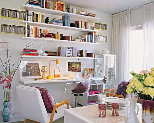 Seu ambiente decorado: sala de estar pequena, mas aconchegante e ...