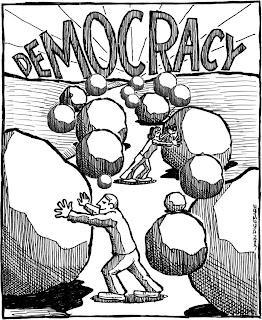 Democracy boulders cartoon