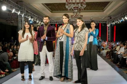 Party Wear Winter Dresses Collection For Women At Fashion Week 2013 By Gul Ahmed