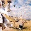 La Marta en un bar davant el mar (J.V. Foix)