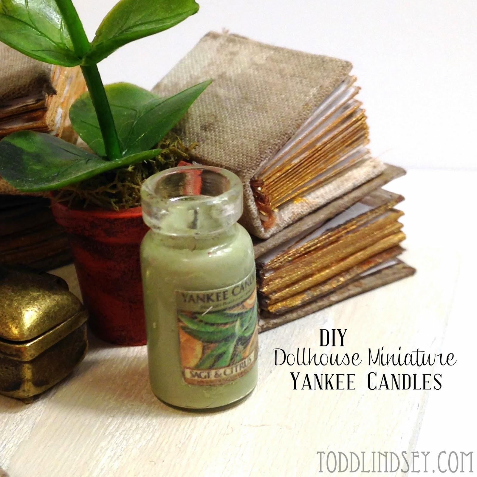 Domer Home: DIY DOLLHOUSE MINIATURE YANKEE CANDLES