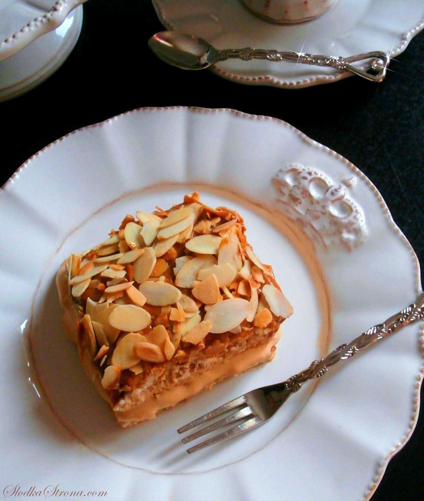 """Ciasto """"Krówka"""" - Bez Pieczenia - Przepis"""