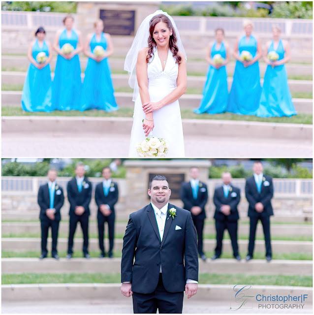 Naperville Riverwalk Wedding Portrait