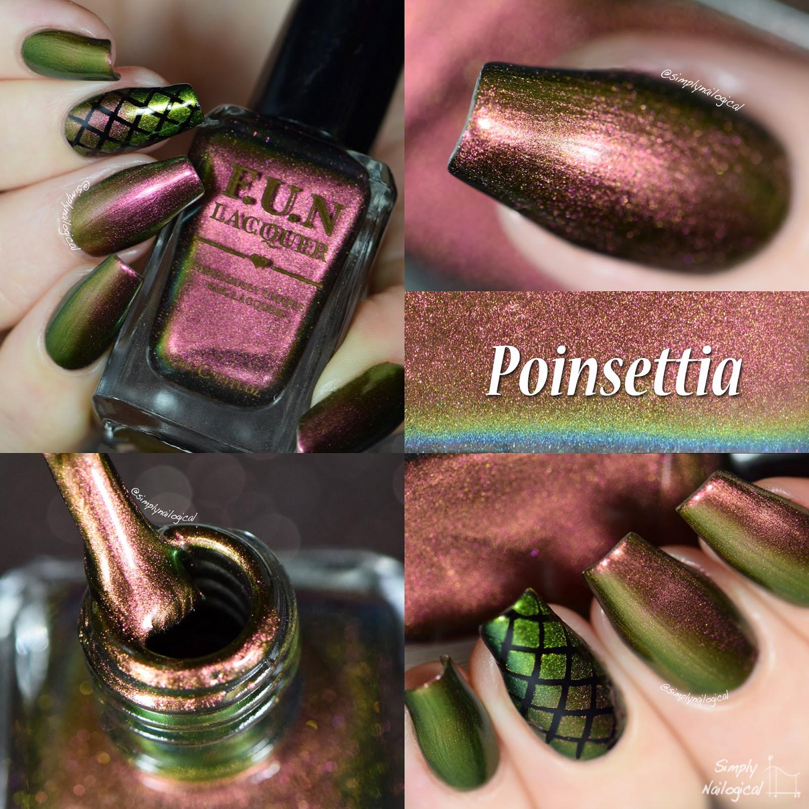 FUN Lacquer Christmas 2014 collection - Poinsettia swatch