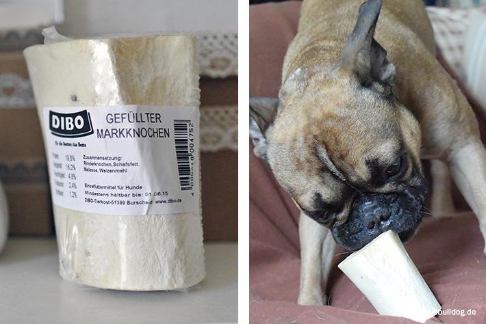 Gefüllter Markknochen für Hunde