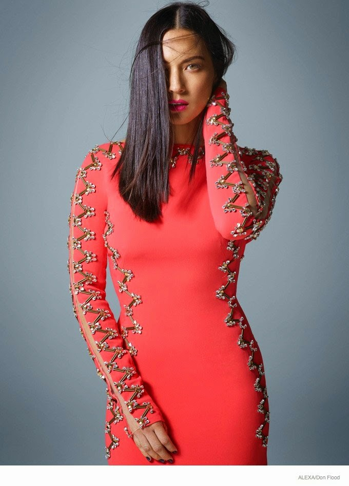 Olivia Munn is chic in stylish designs for a photoshoot for Alexa Magazine
