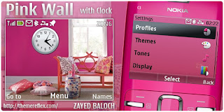 pink wall c3 themes by zb Download Tema Nokia C3 Gratis