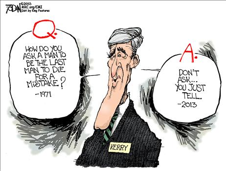 Kerry's Evolved Opinion on War