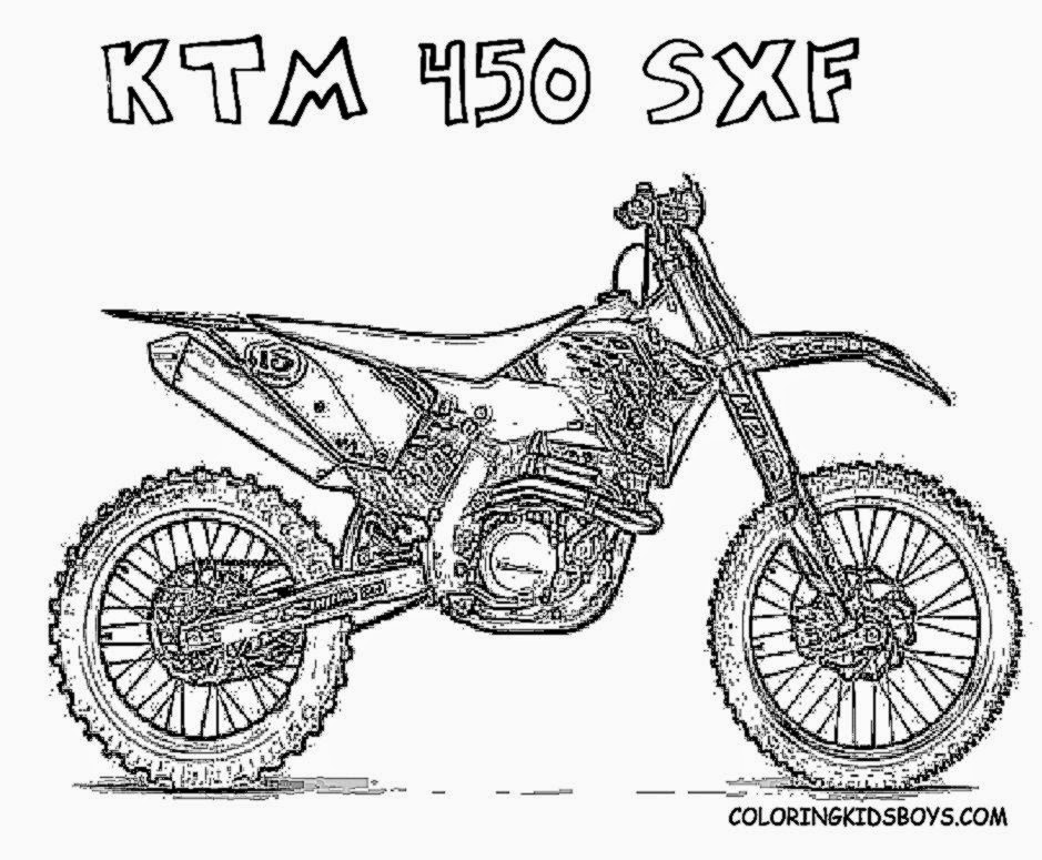honda dirt bike coloring pages kids page sketch coloring With honda 50cc bike las