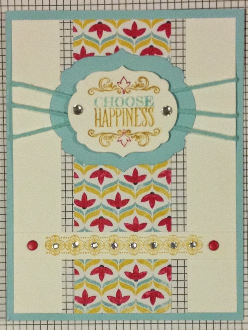 Stampin Up Flashback DSP and Choose Happiness stamp set v2