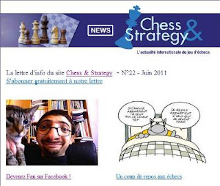 Découvrez notre Newsletter mensuelle sur l'actualité du jeu d'échecs !