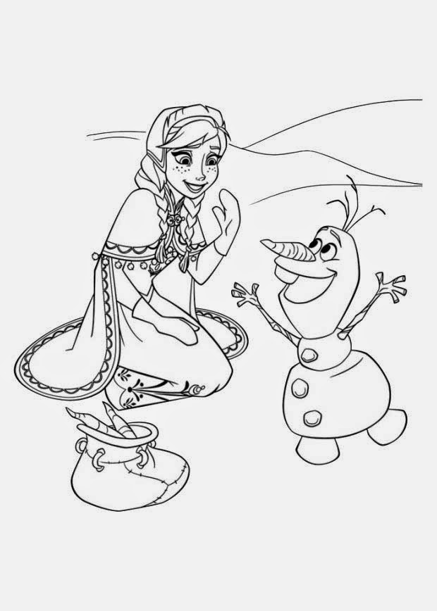 Kristoff Coloring Page